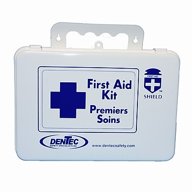Shield Level #1 Regulation Standard First Aid Kit, Saskatchewan, 16 Unit, 1-9 Person(s), Plastic Box