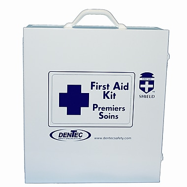 Shield Level #3 Regulation Standard First Aid Kit With Stretcher, Northwest Territories & Nunavut, 20-49 Persons, Metal Box