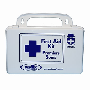 Shield Personal Regulation Bulk First Aid Kit, New Brunswick, 10 Unit, 1 Person, Plastic Box