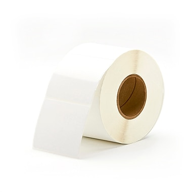 Primera 3in. x 2.5in. White Labels, Semi-Gloss, 1000/Roll