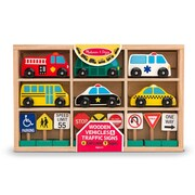 Melissa & Doug® Wooden Vehicles and Traffic Signs Toy
