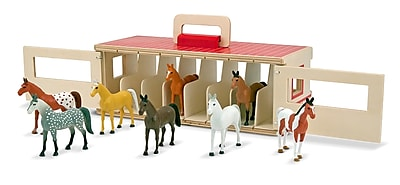 Melissa & Doug Take-Along Show-Horse Stable Play Set 919387