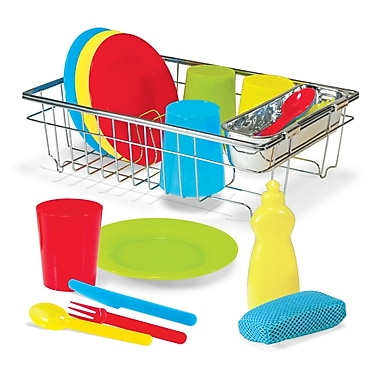 Melissa & Doug® Let's Play House Wash and Dry Dish Set