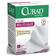 "Medline® Curad® 1CT Prosorb Rolled Gauze, 2"" x 90"", 24/Box"
