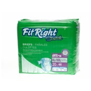 "Medline® FitRight® Ultra Stretch Clothlike Briefs, XL/2XL (59"" - 70""), 80/Pack"