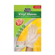 Medline® Handy Helper™ Lightly Powdered Vinyl Gloves, Clear, One Size