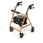 Medline® 250 lbs. Capacity Basic Comfort Rollators, Orange