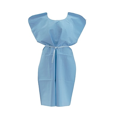 Medline® Disposable Patient Gowns, Blue, Regular/Large