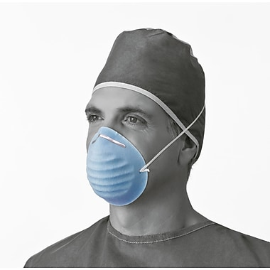 Medline® Surgical Cone-Style Face Mask, Blue, 300/Pack