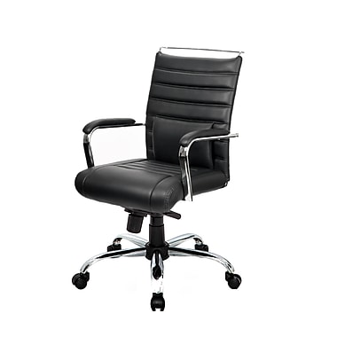 @theOffice® 4 Series Mid-Back Executive Conference Chair, Black Alterna
