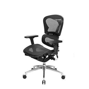 At The Office 6 Series Mesh Mid-Back Chair, Black