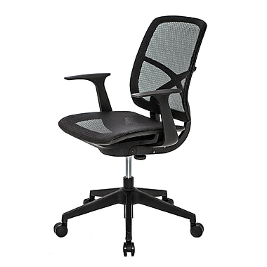 @theOffice® 9 Series Mesh Task Chair With Adjustable Arms and Action Technology, Black