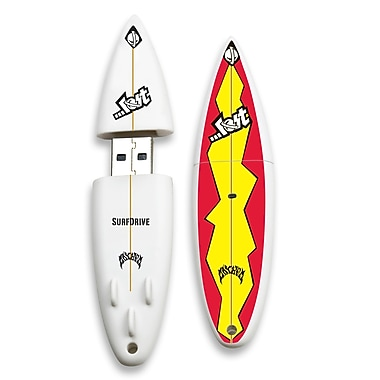 EP Memory SurfDrive Lost Flashback LOST-SURFFLB/8G USB 2.0 Flash Drive, Red/Yellow