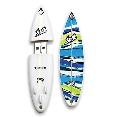 EP Memory Lost Rocket V2 Surfdrive LOST-SURFUBR/8G USB 2.0 Flash Drive, Multicolor