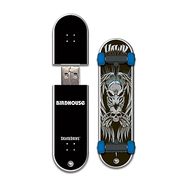 EP Memory Birdhouse/Tony Hawk Skatedrive 8GB USB 2.0 Flash Drive, Hawk Skull