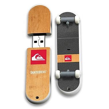 EP Memory Wood Grain Pusher Skatedrive QS-SKATEP/8G USB 2.0 Flash Drive, Brown