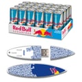 EP Memory 24/Pack Red Bull Sugarfree Energy Drink & Surfdrive 8GB USB 2.0 Flash Drive, Blue Text