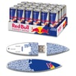 EP Memory Red Bull Blue Text Surfdrive RBO24SUBT/8GB USB 2.0 Flash Drive, Multicolor