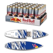 EP Memory 24/Pack Red Bull Total Zero Energy Drink & Surfdrive 8GB USB 2.0 Flash Drive, Blue Camo