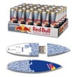 EP Memory 24/Pack Red Bull Total Zero Energy Drink & Surfdrive 8GB USB 2.0 Flash Drive, Blue Text