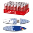 EP Memory Red Bull Red Energy Drink & Surfdrive RBR24SUBT/8GB USB 2.0 Flash Drive, Blue Text