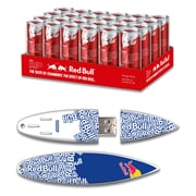 EP Memory Red Bull Red Energy Drink & Surfdrive RBR24SUBT/8GB USB 2.0 Flash Drive, Blue Text, (Quantity of 1 Flash Drive)
