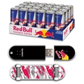 EP Memory 24/Pack Red Bull Original Energy Drink & 8GB USB 2.0 Skatedrive, Red Camo