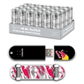 EP Memory 24/Pack Red Bull Silver Energy Drink & Skatedrive 8GB USB 2.0 Flash Drive, Red Camo