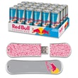 EP Memory 24/Pack Red Bull Sugarfree Energy Drink & SnowDrive 8GB USB 2.0 Flash Drive, Red Text