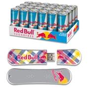 EP Memory 24/Pack Red Bull Sugarfree Energy Drink & SnowDrive 8GB USB 2.0 Flash Drive, Yellow Plaid