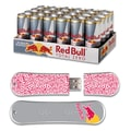 EP Memory 24/Pack Red Bull Total Zero Energy Drink & SnowDrive 8GB USB 2.0 Flash Drive, Red Text