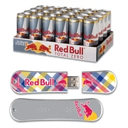 EP Memory 24/Pack Red Bull Total Zero Energy Drink & SnowDrive 8GB USB 2.0 Flash Drive, Yellow Plaid