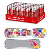 EP Memory Red Bull Energy Drink & SnowDrive RBR24SNYP/8GB USB 2.0 Flash Drive, Yellow Plaid