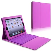 Insten® Leather Case Stand With Bluetooth Keyboard For Apple iPad 2/3/4, Purple