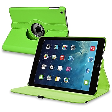 Insten® Leather 360 Deg Swivel Case With Stand For Apple iPad Air, Green