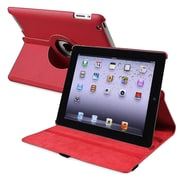 Insten PAPPIPADLC44 Leather Folio Case for Apple iPad 2/3/4, Red