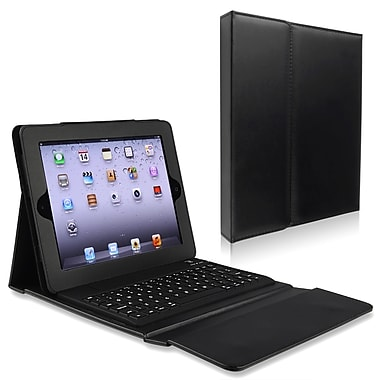 Insten® Leather Case Stand With Bluetooth Keyboard For Apple iPad 2/3/4