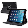 Insten® Leather 360 Deg Swivel Case With Stand For Apple iPad Air, Black