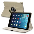 Insten® Leather 360 Deg Swivel Case With Stand For Apple iPad Air, Gray