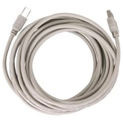 Insten® 15' Type A to Type B Male/Male USB 2.0 Cable, White/Beige