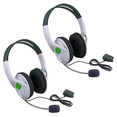 Insten® 386195 2 Piece Game Headset Bundle For Xbox 360