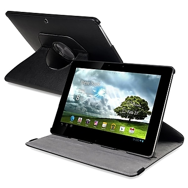 Insten® 360 Deg Swivel Leather Case For Asus Eee Pad Transformer, Black