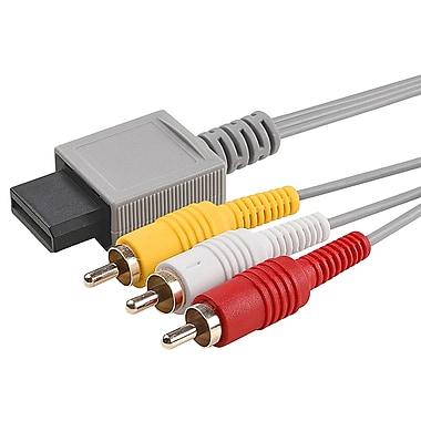 Insten® GNINWIIXCAB5 6' AV Composite Cable For Nintendo Wii/Wii U, Gray