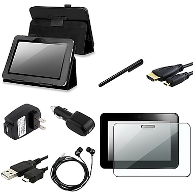 Insten® 809156 9 Piece Tablet Case Bundle For 7in. Amazon Kindle Fire HD 2012 Edition