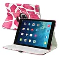 Insten® Leather 360 Deg Swivel Case With Stand For Apple iPad Air, Pink Giraffe