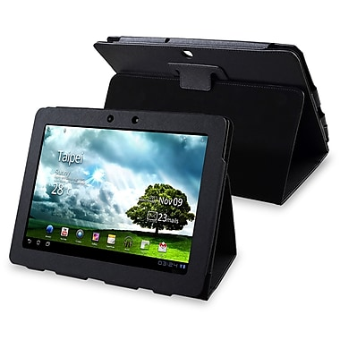 Insten® Leather Case For Asus Transformer TF300T, Black