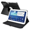 Insten® 360 Deg Swivel Leather Case For 10.1in. Samsung Galaxy Tab 3 P5200, Black