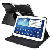 "Insten PSAMGLXTLC60 Synthetic Leather Folio Case for 10.1"" Samsung Galaxy Tab 3, Black"