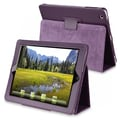 Insten® Leather Case With Stand For Apple iPad 2/3/4, Purple
