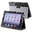 Insten® Leather Case With Stand For Apple iPad 3/4, Black/White Leopard